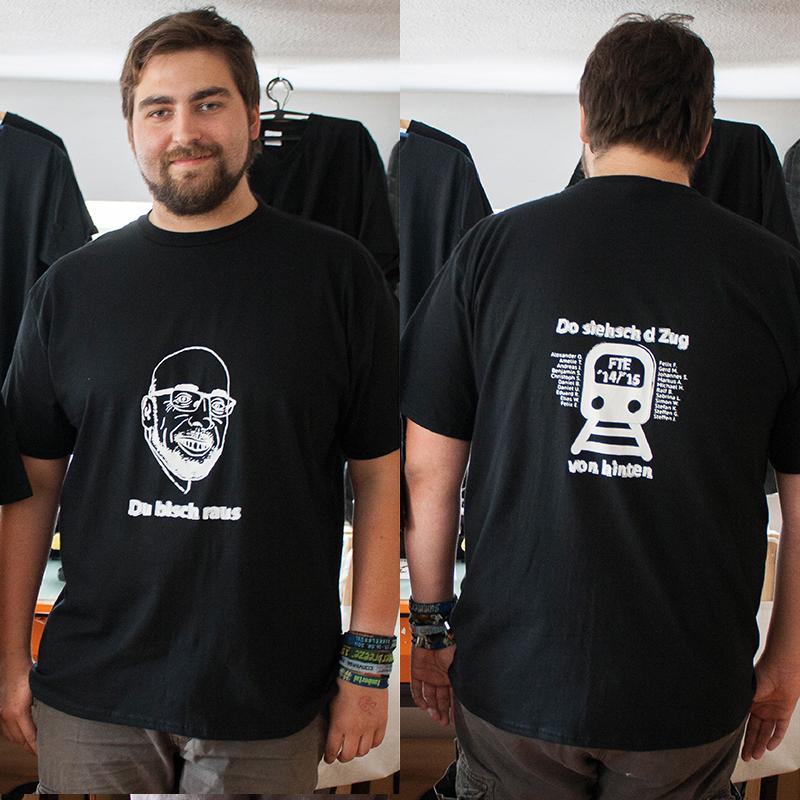 Abschluss-Shirts, beidseitig bedruckt