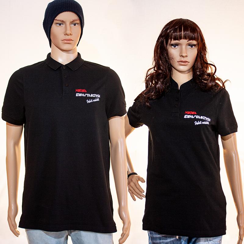 Firmenlogo auf Polo-Shirts Habelt Elektrotechnik, CR