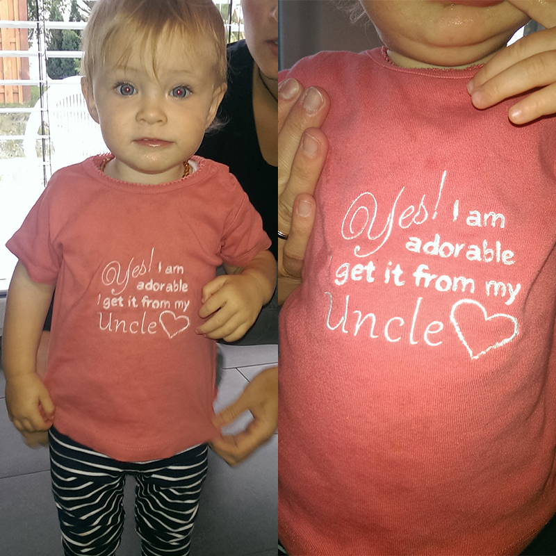 Kindershirt, bestickt, als Geburtstagsgeschenk