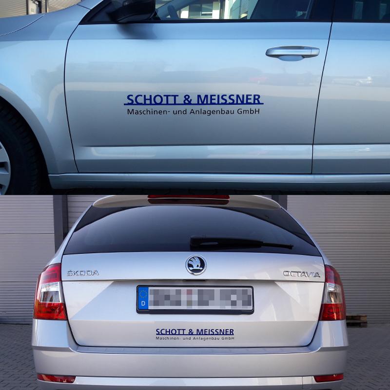Hochleistungsfolie für Fahrzeug- und Maschinenbeschriftung - Schott & Meissner