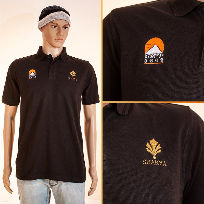 Bestickung Polo-Shirts mit Gold-Faden Shakya, Dünsbach
